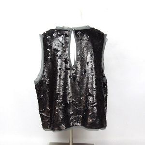 71560bc646ea74 Who What Wear Tops - New Who What Wear Gray Sequin Sleeveless Blouse